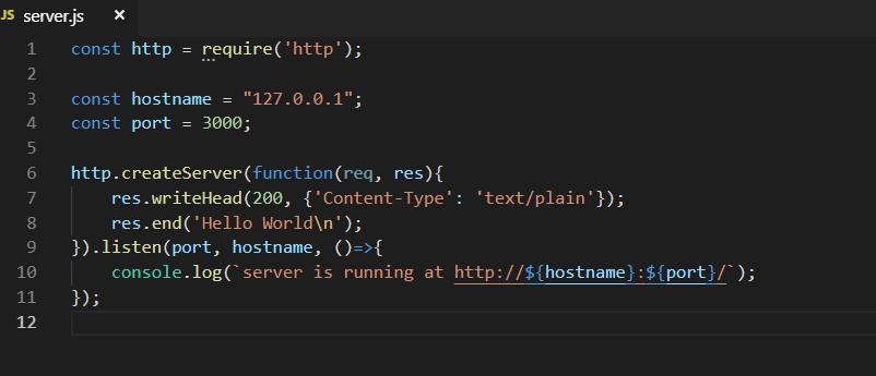 Basic Node HTTP server