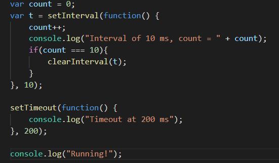 Running js file using Node